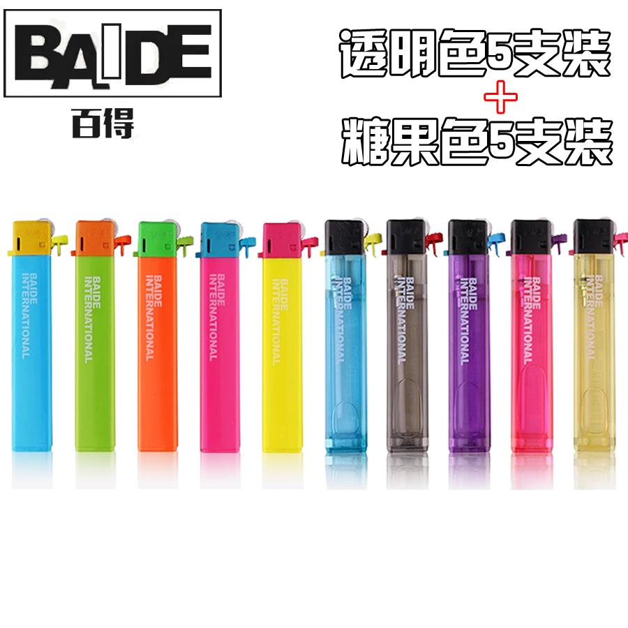 Đen trắng chính hãng BAIDE siêu mỏng cá tính nhẹ hơn dải dùng một lần nhẹ hơn - Bật lửa