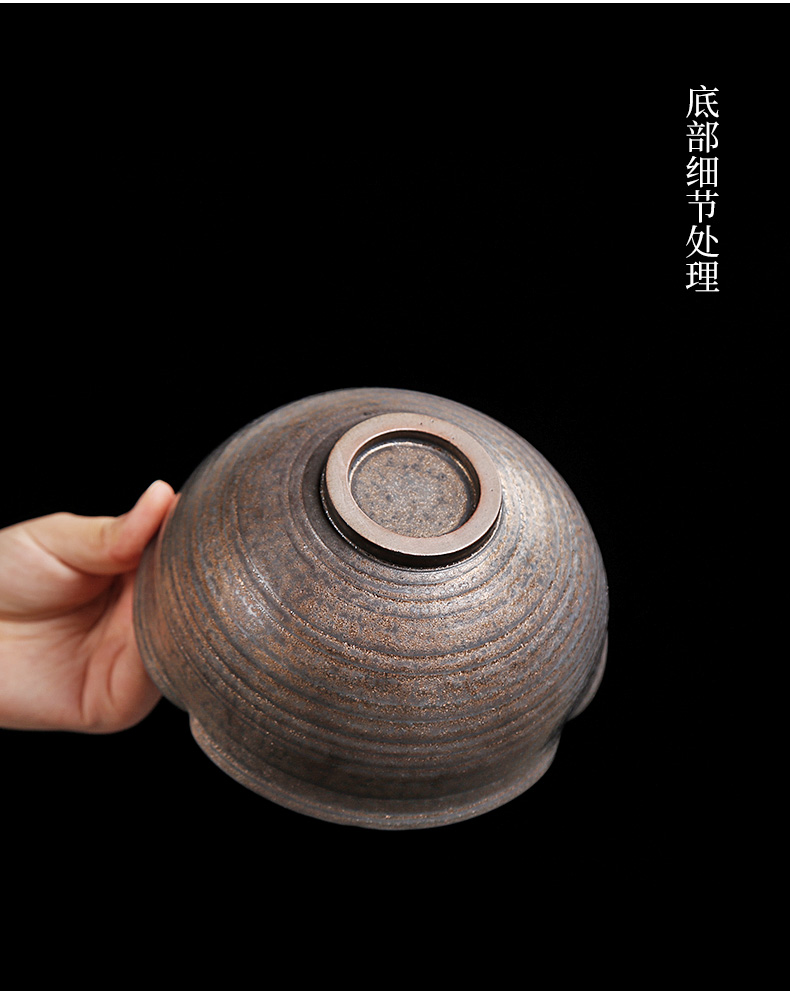 By patterns coarse pottery bronze and gold water chestnut tea wash to household archaize water jar water trumpet built writing brush washer from water by hand