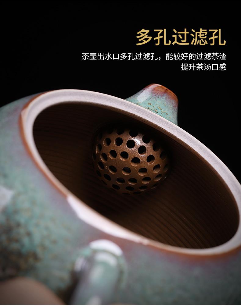 Jin jun porcelain quality goods is one little teapot with a tea teapot MiaoXingWei hand undressed ore glaze up xi shi pot