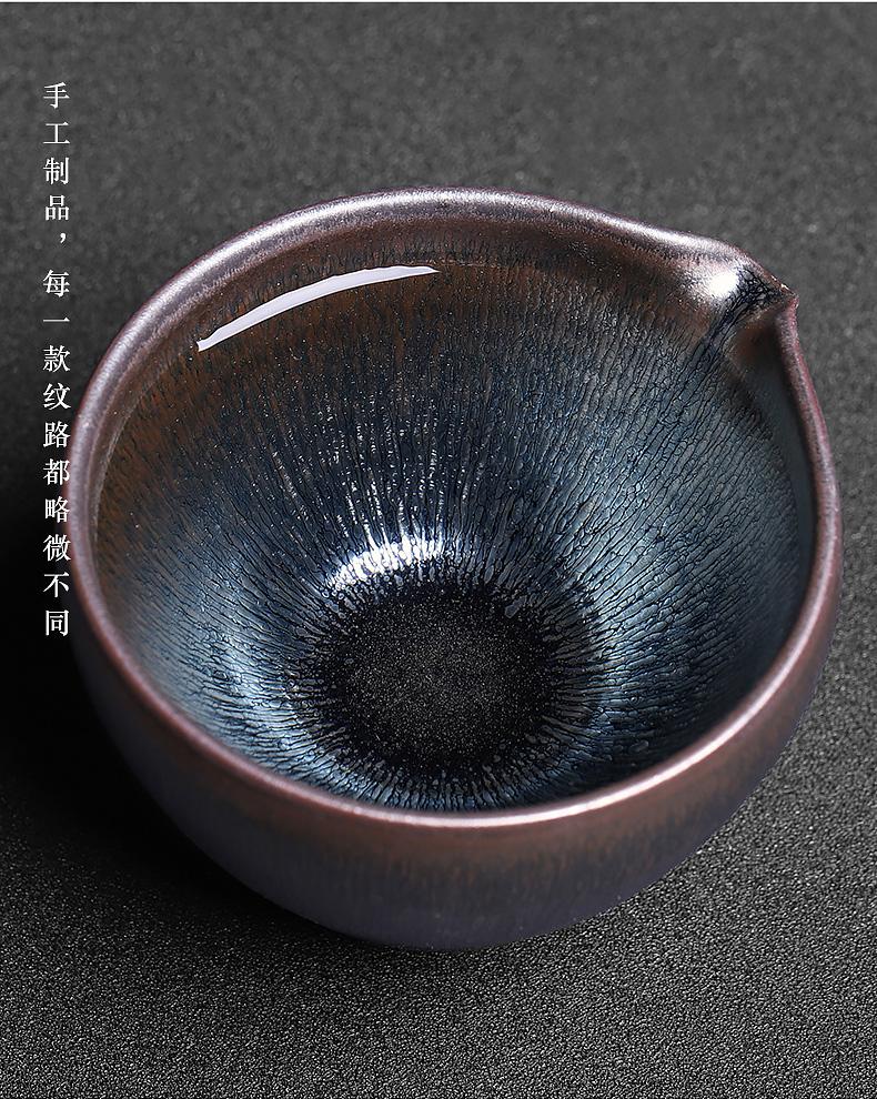Build light tea set to Build kilns undressed ore iron tire TuHao built light household individual fair fair keller cup ceramic small tea sea