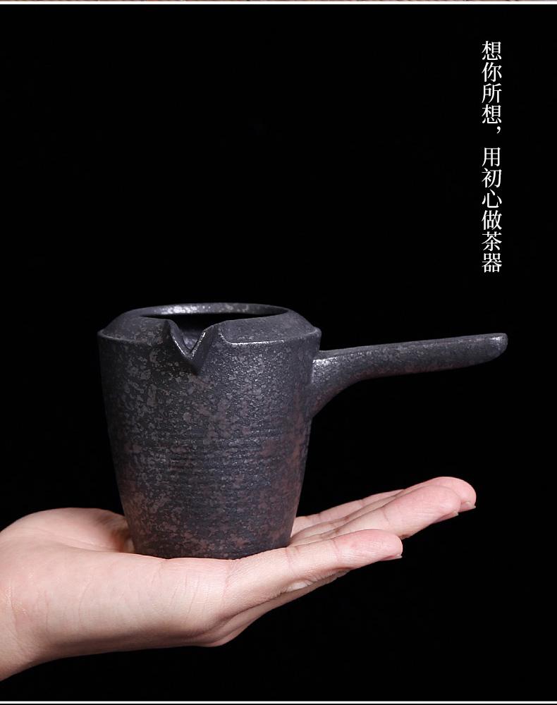 Coarse pottery side poured the tea set a single male glass ceramic fair keller fair tea pot and tea cup archaize points sea reefs