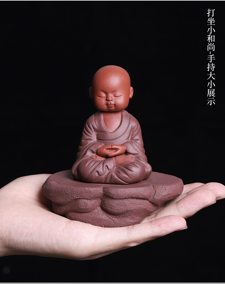 Purple sand tea for its ehrs spoil the young monk zen tea table is placed lovely tea play the little novice monk home decoration interesting products