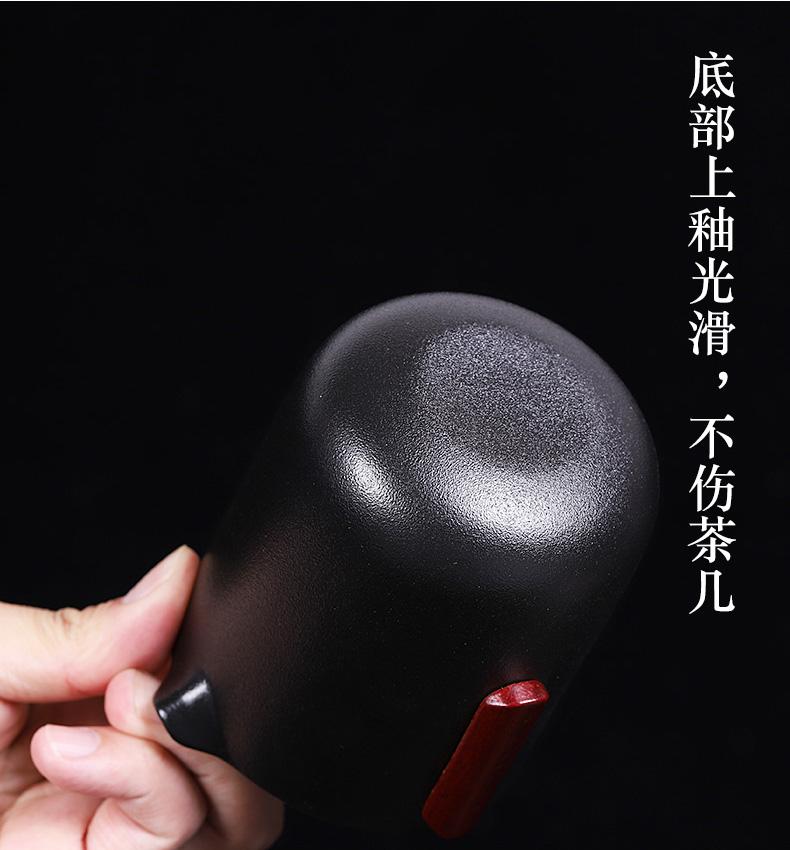 Is suing tea set suit portable car contracted coarse now kung fu tea set four cups of tea pot separation ceramic travel