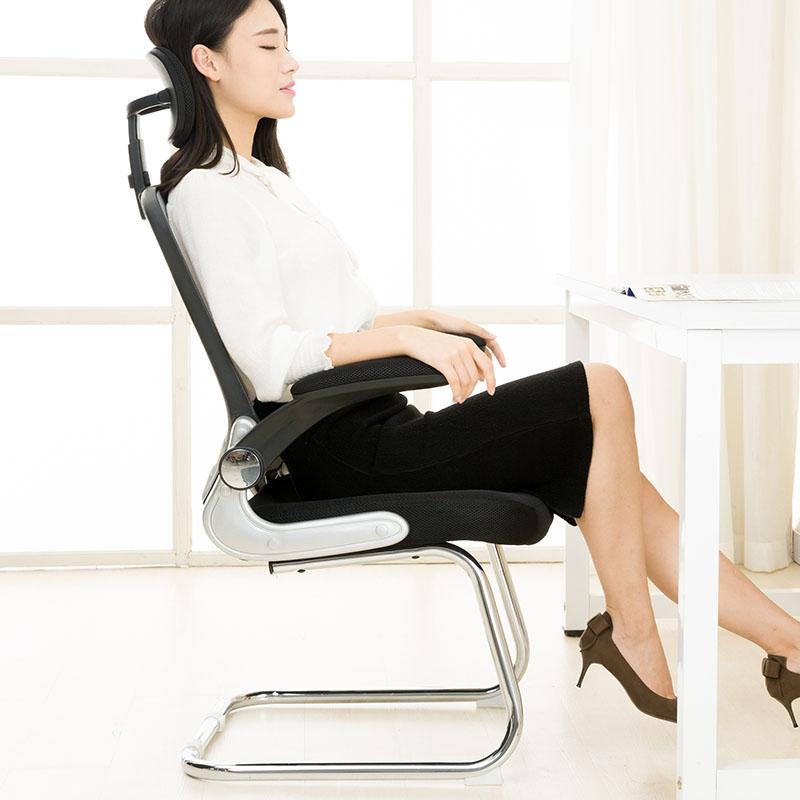 八九间 弓形电脑椅网布网椅办公椅子靠背椅 时尚简约家用活动扶手