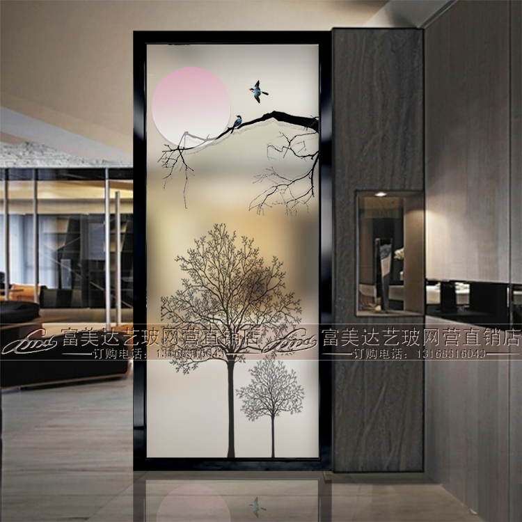 glass partition for living room usd 202 79 modern minimalist glass partition screen 23886
