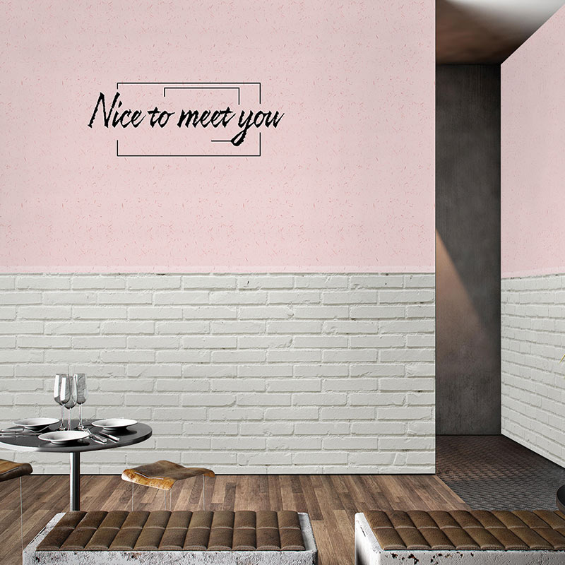 Nordic minimalist cement brick wallpaper art bar meal bar tea shop clothing store pink shooting Background Wallpaper