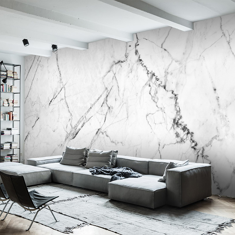 Simple 3d imitation marble wallpaper non-woven wallpaper art bedroom living room dining room clothing store background wall painting