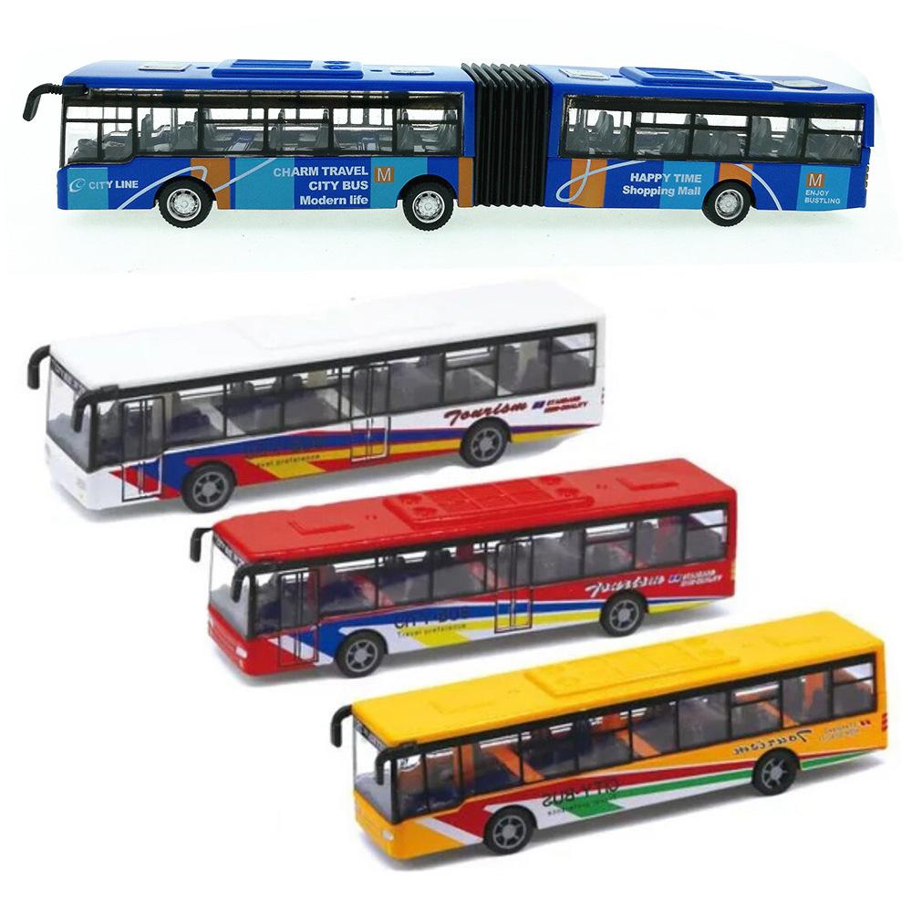 合巴士15CM金车公交车回力车模型儿童汽车玩具车包邮