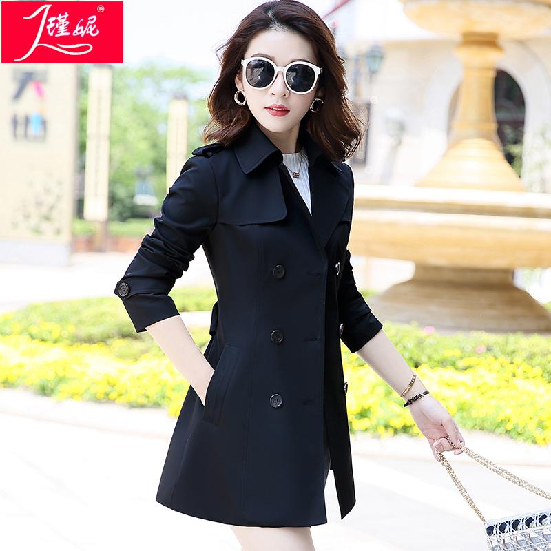 风衣女中长款韩版秋季2020新款气质收腰修身显瘦百搭春秋女士外套