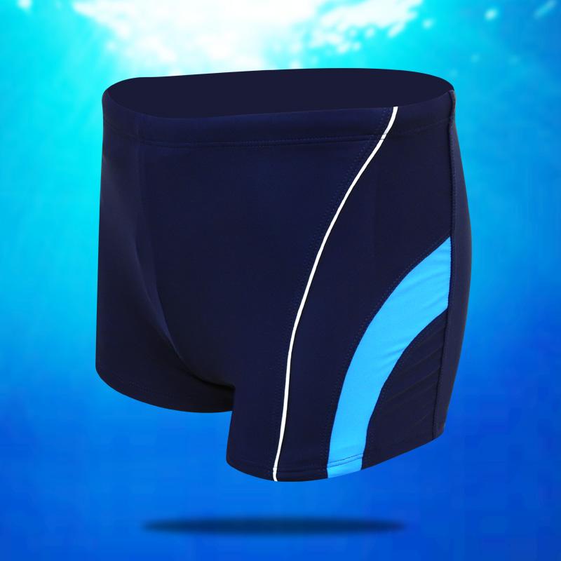 Đồ bơi nam Jingle kích thước lớn góc phẳng thời trang quần bơi nhanh khô kỳ nghỉ mùa xuân quần bên bờ biển - Nam bơi đầm