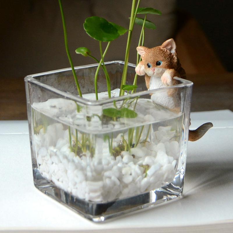 创意可爱小猫咪花盆个性卡通动物简约多肉仙人掌花盆简约装饰桌面