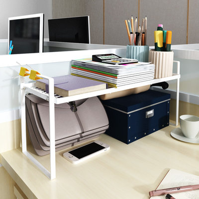 Desk Table Storage Frame Office Desktop Desk Table Split Double Student Easy Books Multi-Function Iron Arts