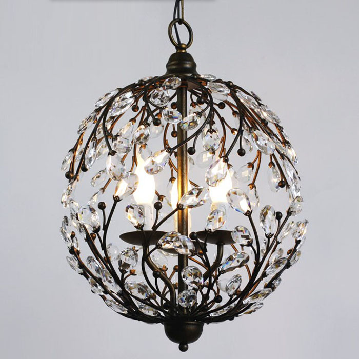 Ball Branch Industrial Crystal Retro Pendant Lamp Ceiling
