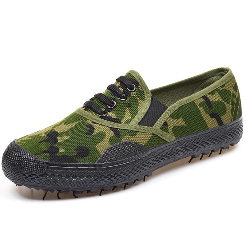 解放鞋子迷彩劳保鞋夏季男士老年工地球鞋男人干活的老北京布鞋男