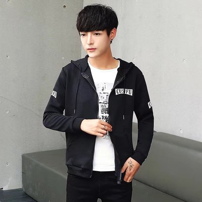 Men's Jacket Autumn 2017 new Korean version of the trend of thin slim handsome spring and autumn tide men hooded jacket