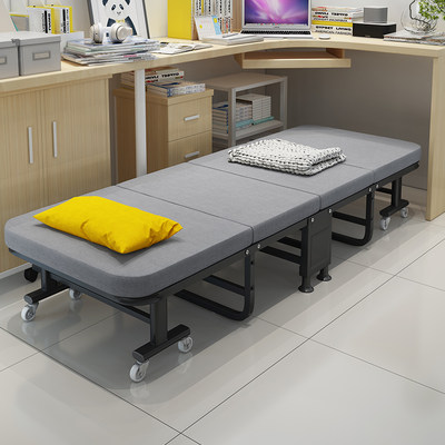 Office lunch break folding bed single 40% off home simple hardboard hospital accompanying bed sleep noon sleep artifact bed