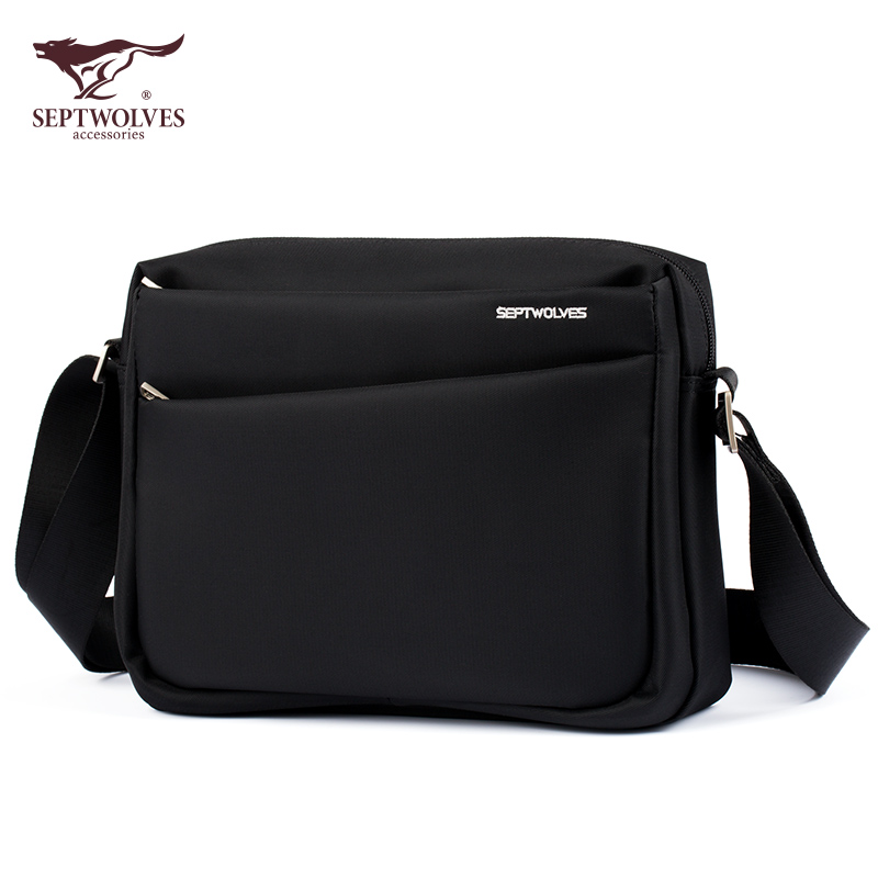 e7ececb81ef4 New cross section men s seven wolves men s bag casual fashion Oxford  waterproof shoulder messenger bag can put ipad