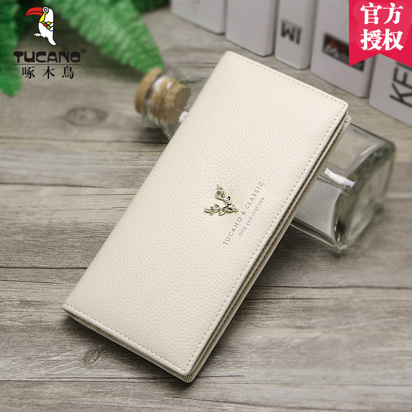 5425d6d1e3d8 Lady Woodpecker Purse 2019 leather long thin small fresh Japanese Korean  bull wallet fashion personality new Money Clip