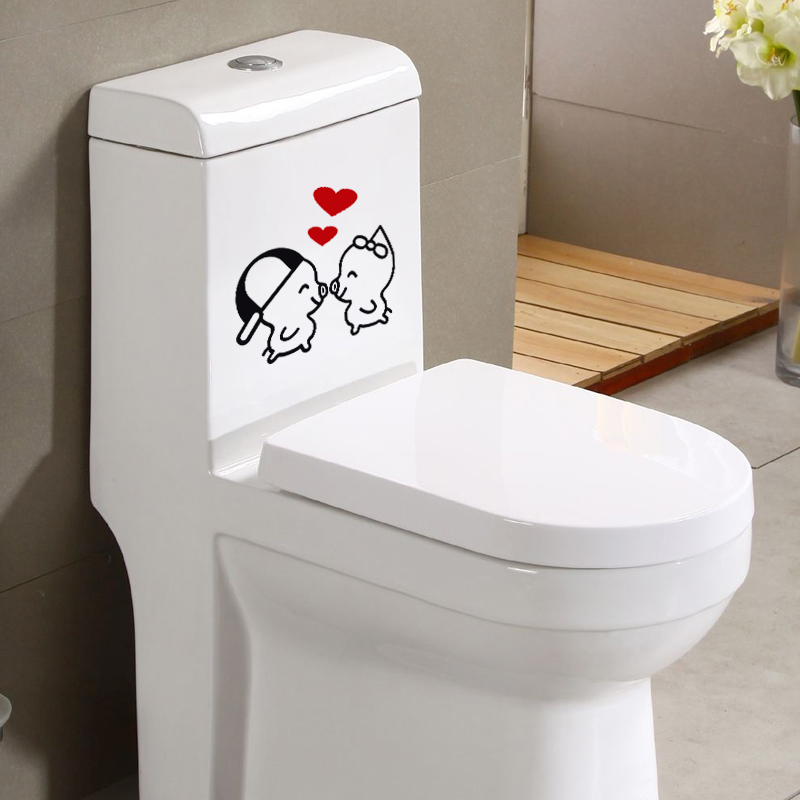 Cute Expression Toilet Stickers Diy Creative Furniture Decorative