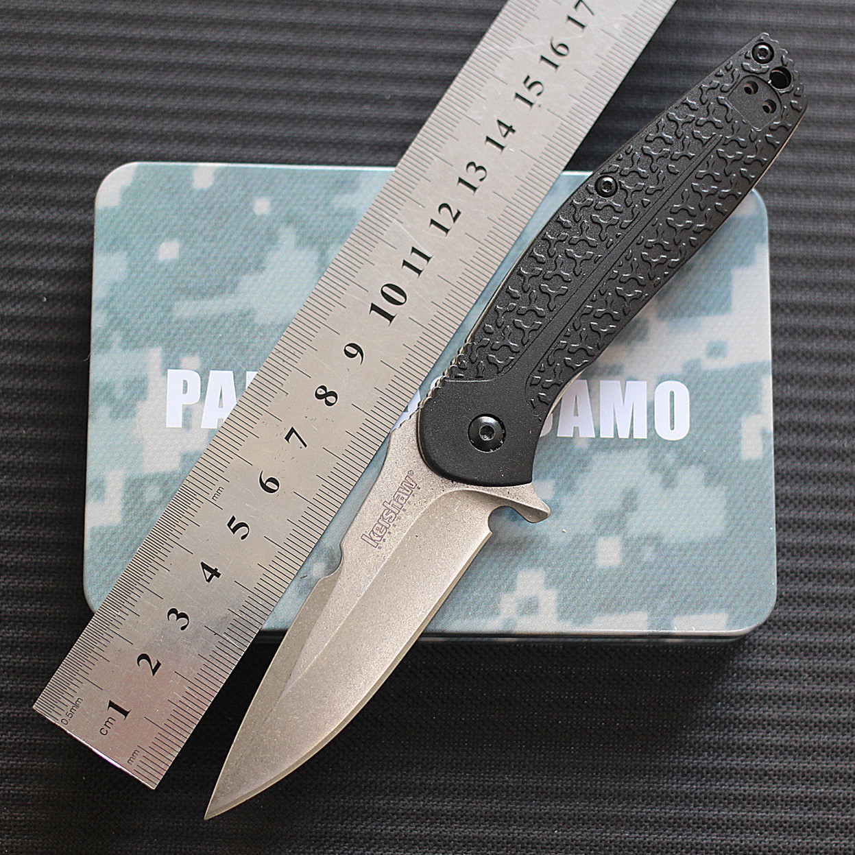 American card show original Kershaw 1970 folding knife high hardness outdoor quick open small folding knife camping EDC tool