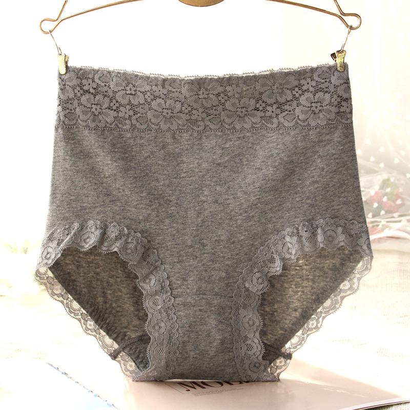 Vesuv eo cao quần lót của phụ nữ cotton túi quần hip bụng bụng nâng hông liền mạch ren vải cotton gợi cảm tóm tắt - Vòng eo thấp
