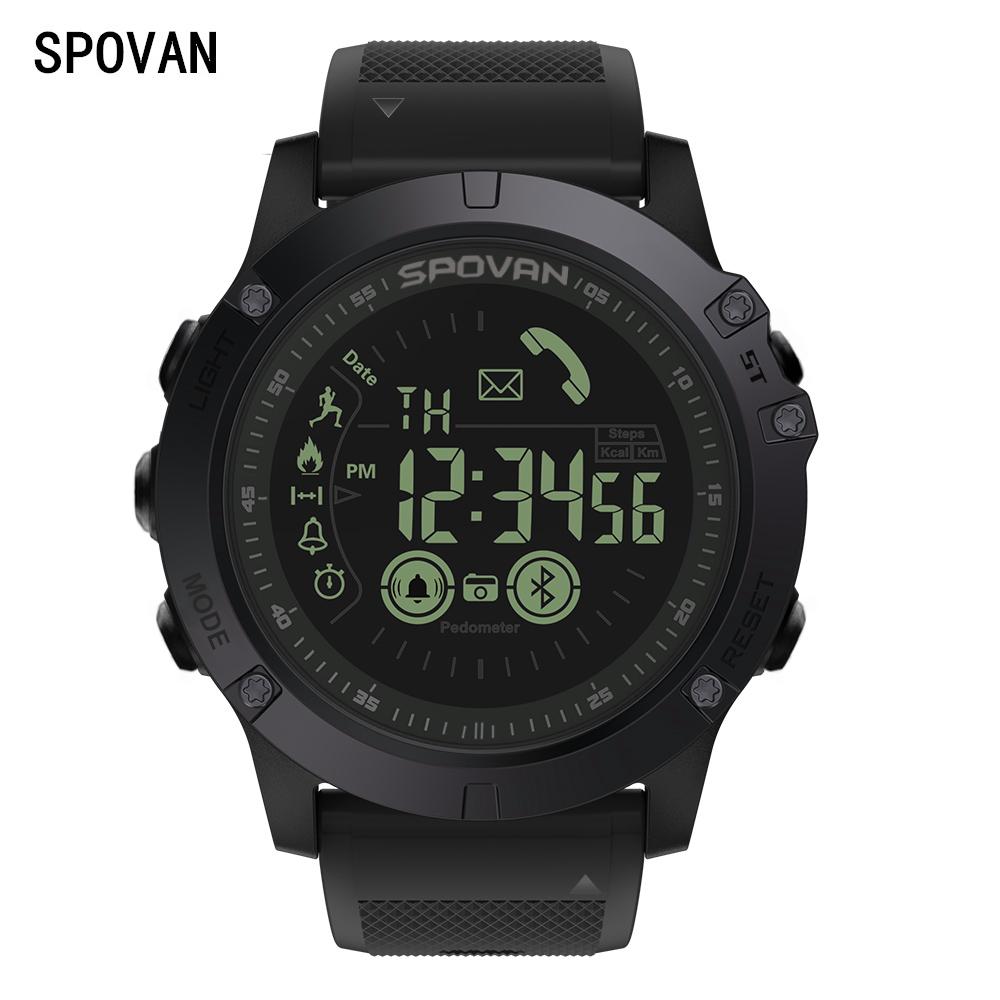 Đồng hồ thông minh SPOVAN leo thông minh điện tử chống nước chạy bước truy cập ngoài trời đa chức năng đồng hồ thể thao điện tử - Giao tiếp / Điều hướng / Đồng hồ ngoài trời