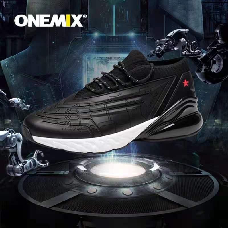 4.9分、耐克代工厂、半掌气垫:onemix玩觅 男女 2021春新款减震跑步鞋 99元包邮