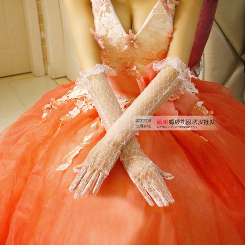 新娘手套婚纱手套包邮_包邮热卖新娘手套蕾丝婚纱手套 礼服 露指无指长