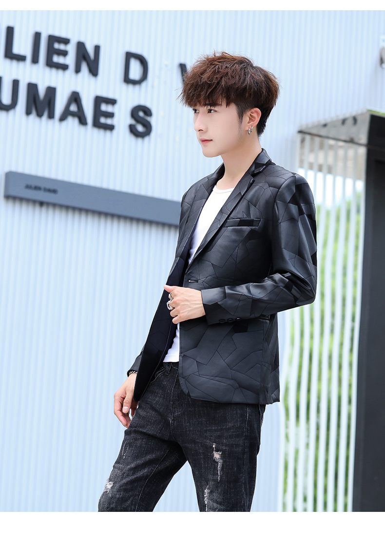 Suit men Korean version slim men casual small suit trend handsome single western coat autumn and winter youth clothes 57 Online shopping Bangladesh