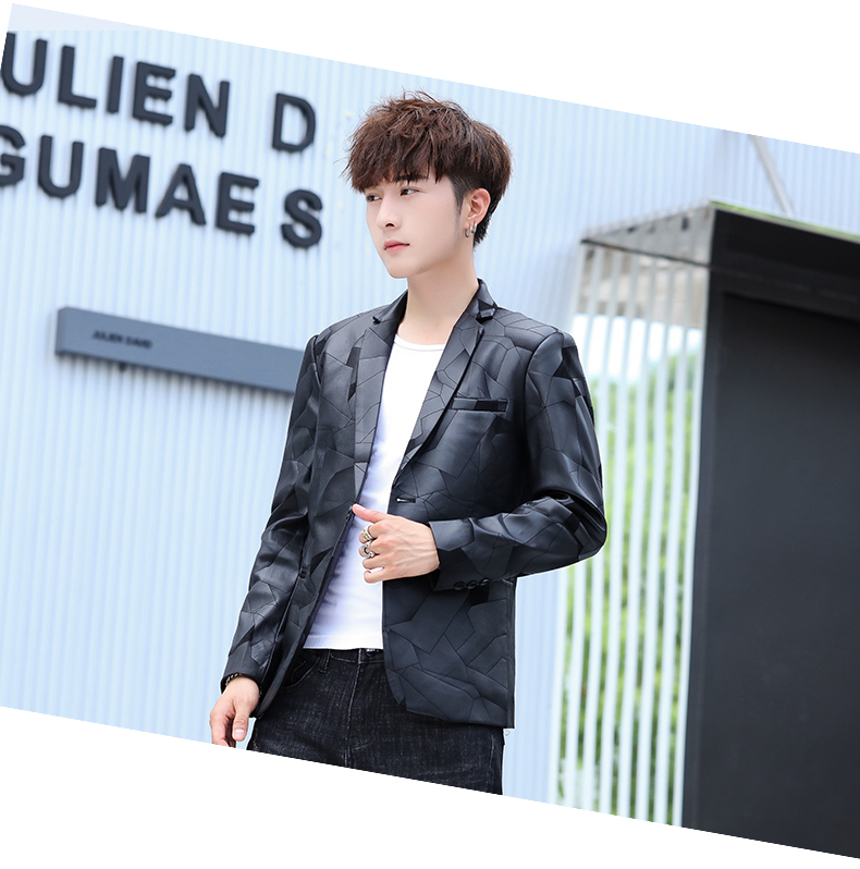 Suit men Korean version slim men casual small suit trend handsome single western coat autumn and winter youth clothes 55 Online shopping Bangladesh