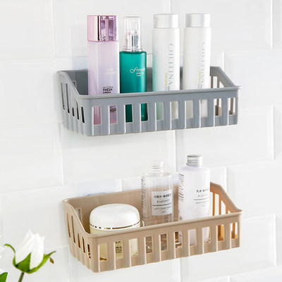Punch-free bathroom storage shelf kitchen plastic wall wall hanging toilet toilet sundries storage rack corner rack