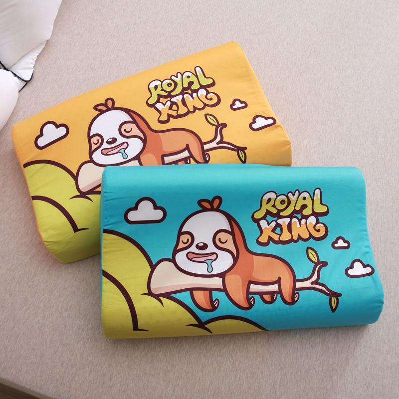 Royal泰国儿童乳胶枕头皇家原装进口天然橡胶枕抗菌乳胶枕护颈枕0