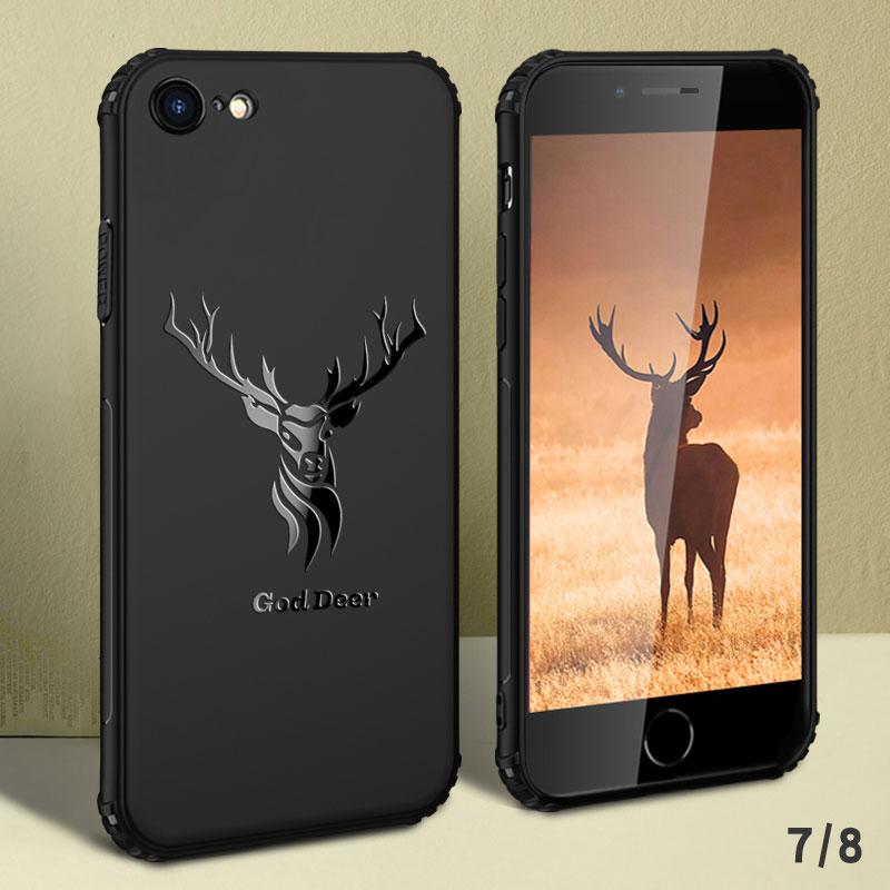 苹果7Plus手机壳iPhone8Puls潮男6套6s黑i7P磨砂iP7个性软壳八i6硅胶6sp潮牌ip全包防摔网红抖音同款送钢化膜