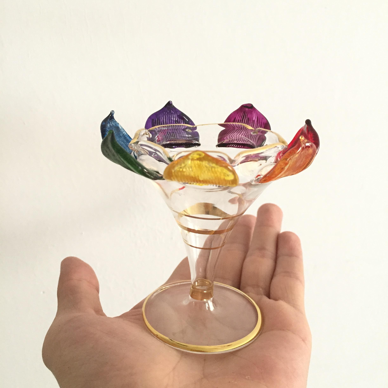 埃及纯手工玻璃艺术品 香精瓶摆件 扩香香薰 蜡烛灯台 七脉轮莲花