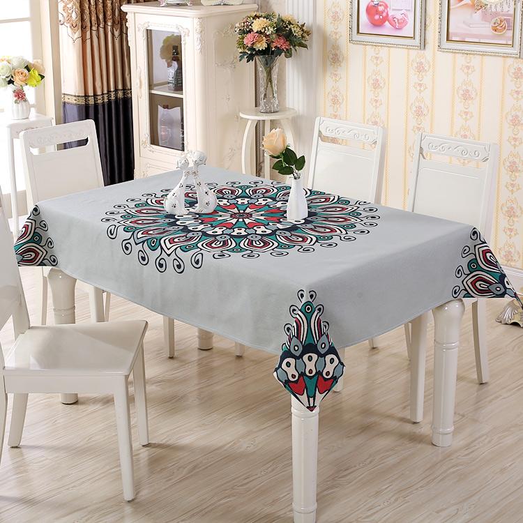 棉麻桌布布艺台布创意欧式茶几小正方形家用餐桌布长方形现代简约