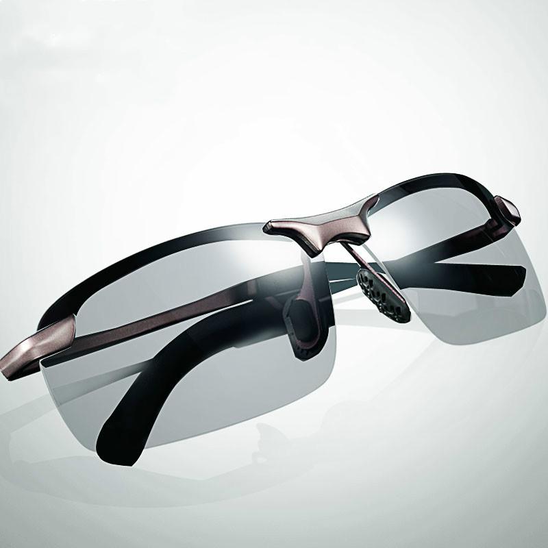 锐盾防紫外线变色偏光太阳镜司机开车钓鱼时尚男士墨镜方框眼镜大_领取10元天猫超市优惠券