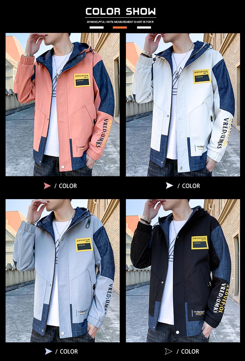 【主推】现货秋装男新款夹克男外套男港风ins工装上衣JK07P60