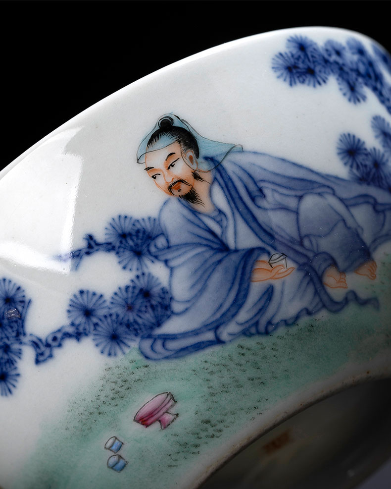 St the ceramic kongfu master cup hand - made porcelain dou pastel boiled tea figure lying fa cup jingdezhen tea by hand