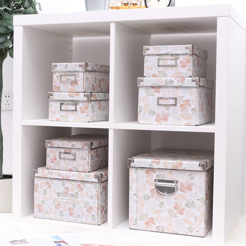 Deciduous paper storage box storage box student dormitories book storage box book box carton box with a lid