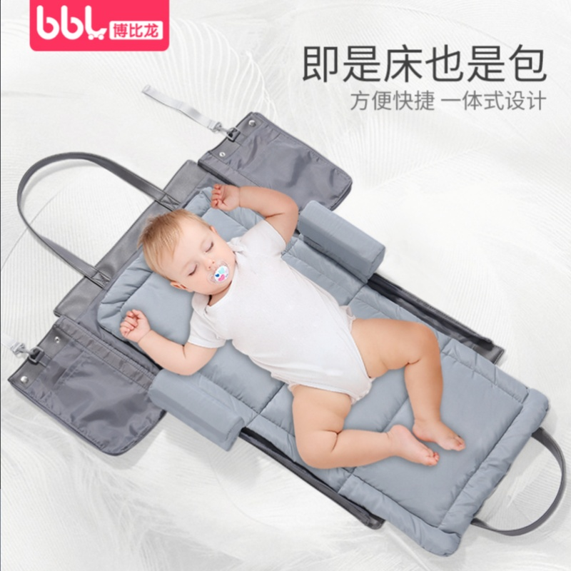 牀 in 牀 baby 牀 portable multi-functional baby artifact folding newborn anti-pressure Nordic Bionic children 牀