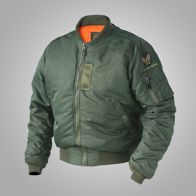 USD 75.91] MA1 US Air Force flight jacket green thickening jacket ...