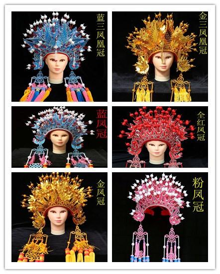 Новый Niang Fengguan Headwear Anchor Props Древний китайский стиль Фэн Гуань Ся для маленькой принцессы Фасонная корона феникса шапка