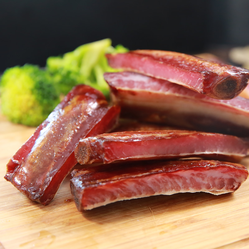 金字腊排骨400g仔排猪排骨 酱排骨自制咸排骨腊肉特产腊味