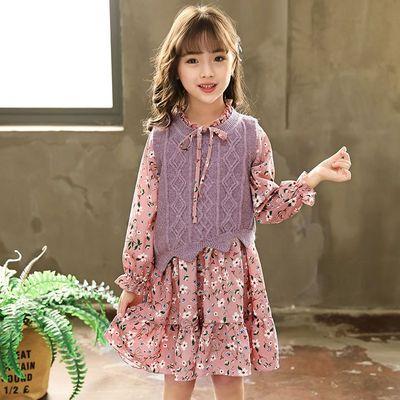 女童连衣裙秋装2021新款儿童装洋气套装小女孩春秋公主裙春装裙子