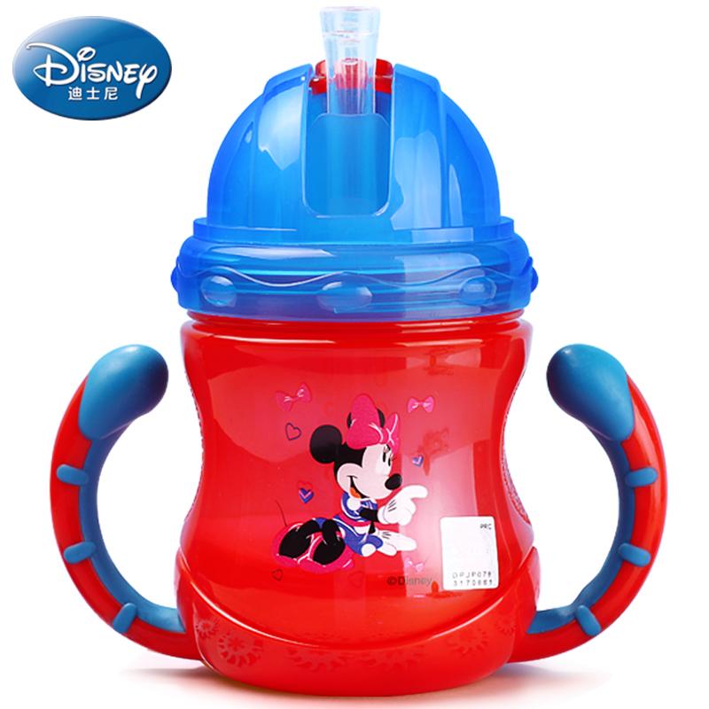 【迪士尼】防漏防呛宝宝学饮杯吸管杯-优惠券5元天猫包邮