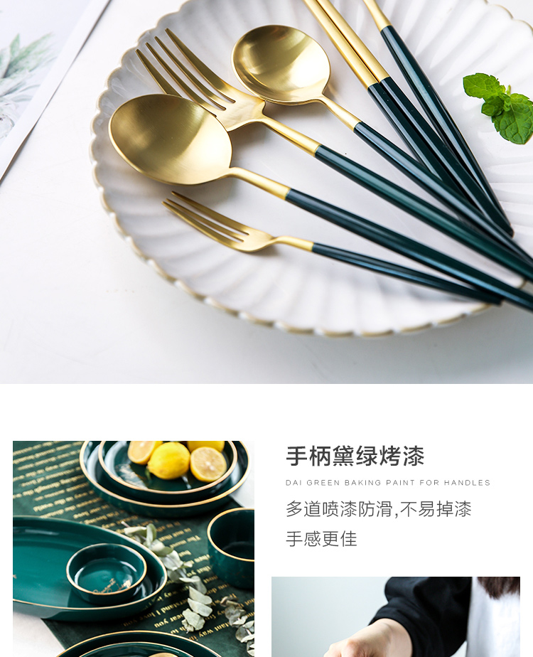 Sichuan in northern western tableware steak knife and fork dish sets of household knife and fork spoon, three - piece two - piece knives and forks