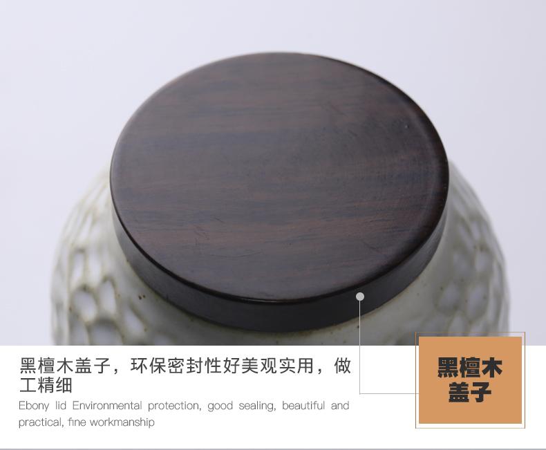 The three regular caddy fixings ceramic seal pot of tea warehouse storage POTS mini small household S51057 receive jar