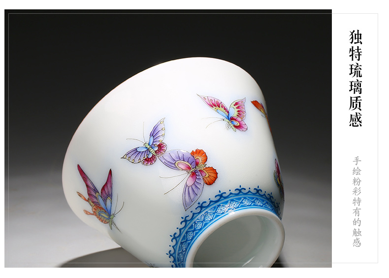 The three regular pastel master cup single CPU jingdezhen ceramic cups sample tea cup cup TZS288 fuels The kung fu by hand
