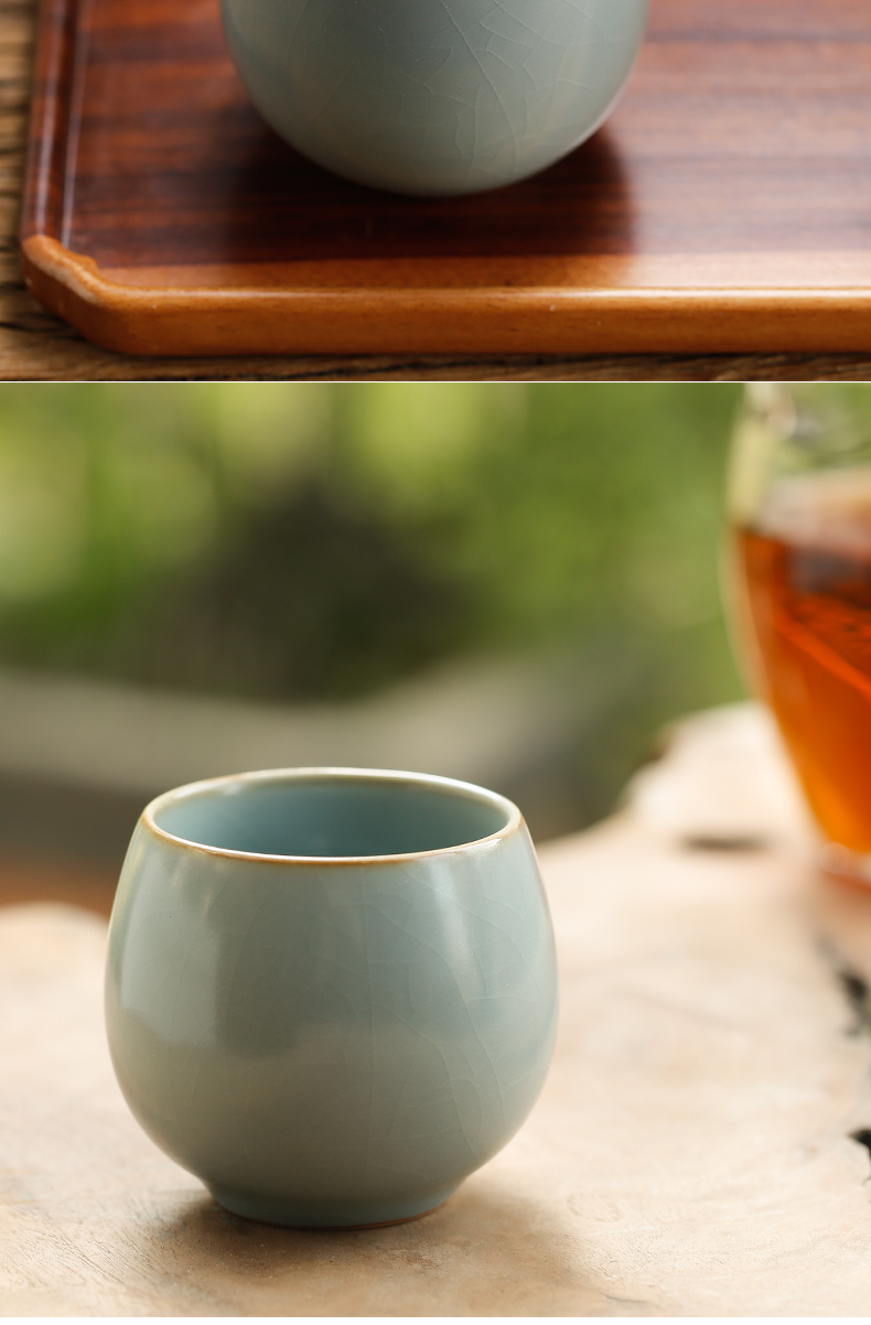 Three frequently hall your up egg cup piece can raise the pu - erh tea cup of red tea master cup jingdezhen tea S44047