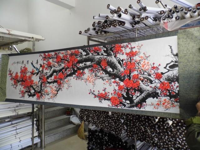 Слово живопись традиционная китайская живопись восемь правитель от привет от слива стрелять слово живопись традиционная китайская живопись гостиная декоративный живопись 2.5 0.6 метр